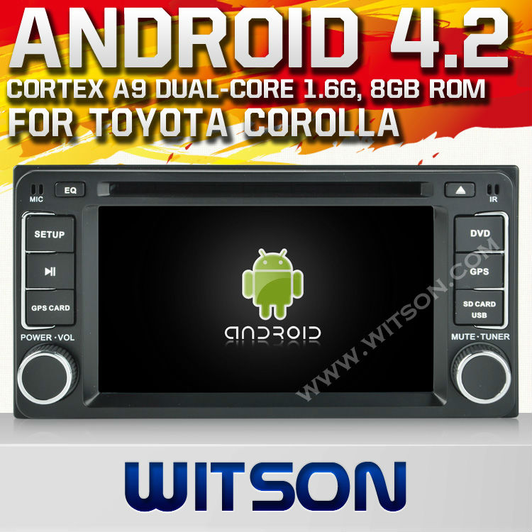 "WITSON Android 4.2 car gps for 6.2"" <strong>TOYOTA</strong> <strong>COROLLA</strong> (2004-2006) WITH A9 CHIPSET 1080P 8G ROM WIFI 3G INTERNET DVR SUPPORT"