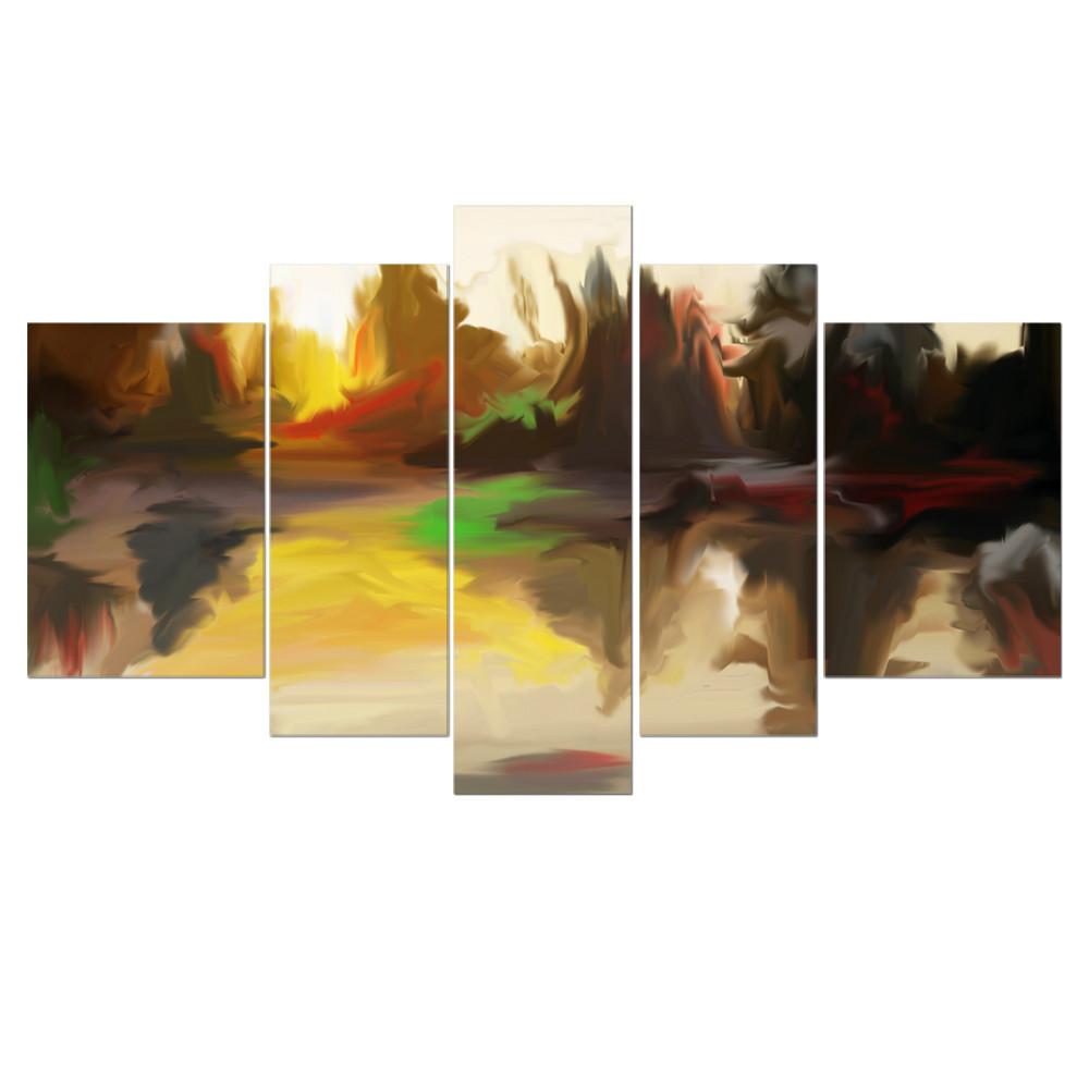 nouveau design gros abstraite peinture murale design pour gros impression sur toile sans cadre. Black Bedroom Furniture Sets. Home Design Ideas