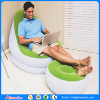 Durable and for business or promotion PVC flocking inflatable sofa
