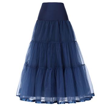 ce2402b41f4 Grace Karin femme Rétro Crinoline Marine Bleu Jupon pour Robe Vintage  CL010421-6