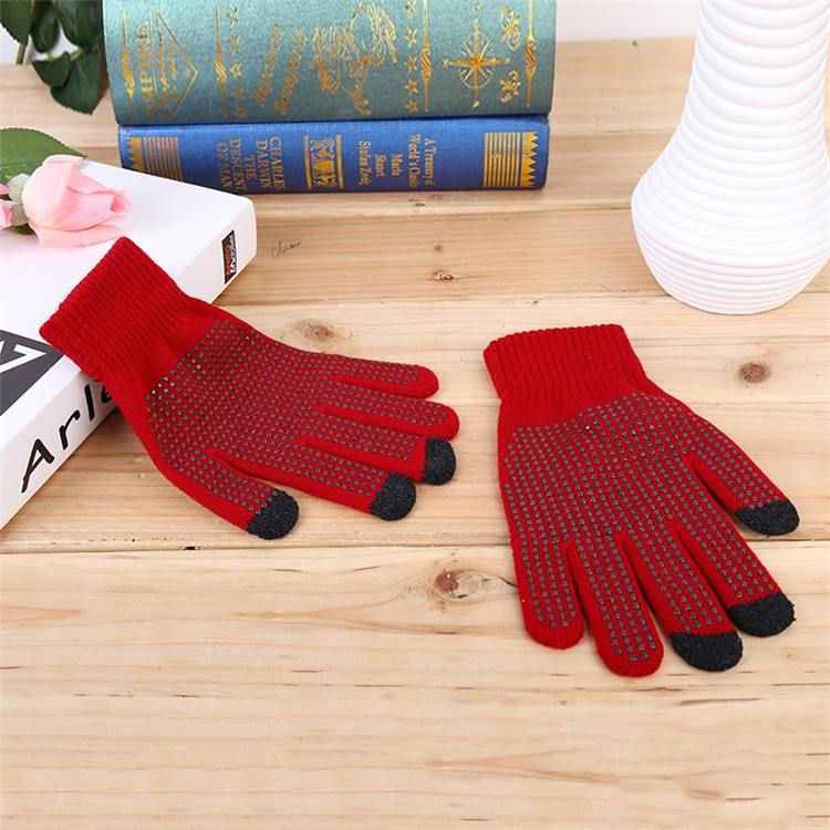 stock grip palm winter magic stretch gloves for smartphones and touchscreens