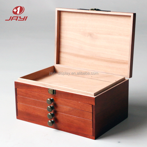 Customized 4 Drawers Cedar Wood Cigar Box Lock