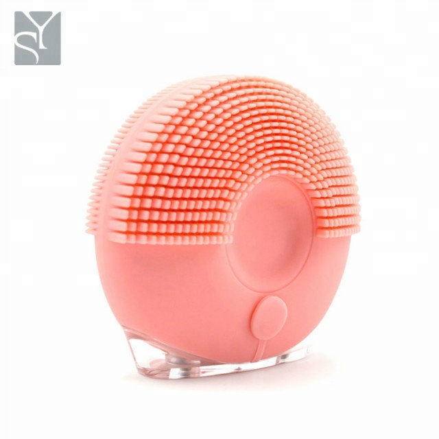 Skincare options makeup cleaner brush facial cleansing brush silicone face washing machine, Pink;blue;yellow;purple;red;green