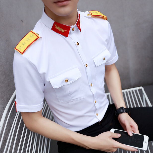 Custom Factory Discount OEM Airline Pilot Men's Commander Shirts Wholesale