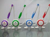 2016 top popular Promotional Plastic Table pen, Desk Stand Ball Pen, Counter penCheaper price desktop plastic ball pen stand