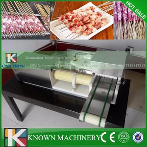 Cheap price automatic kebab skewer wearing equipment / Meat wearing machine for barbecue