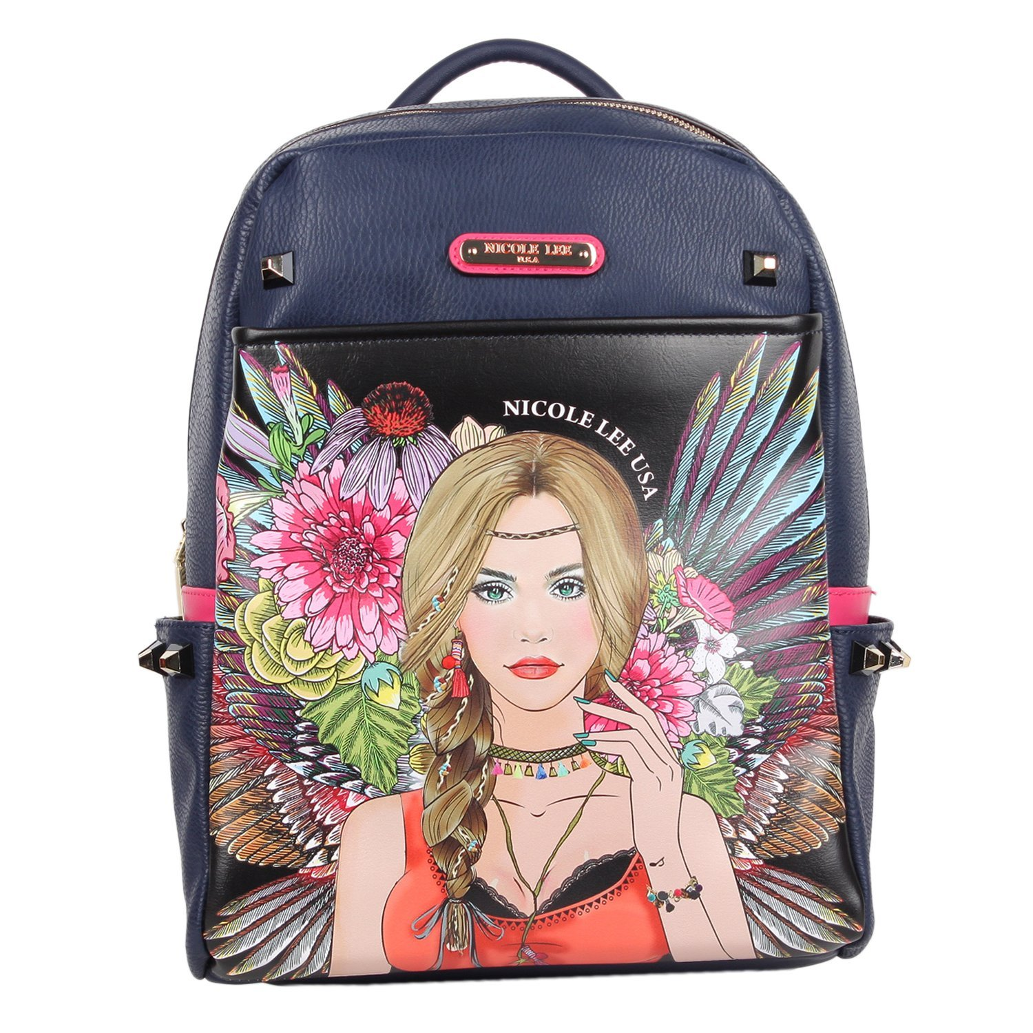Get Quotations · Nicole Lee Nicole Lee Adeen Smart Lunch Backpack Vol. 2  (gypsy Girl) Backpack 15a0a85dfea16