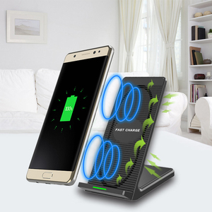 2 coils quick charge wireless mobile phone charger with cooling fan qi wireless charger for samsung galaxy j5
