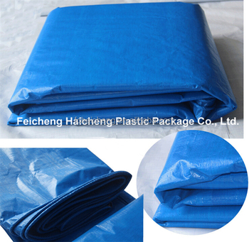 Finished Ng Poly Tarp Bags Blue Heavy Duty Uv Pe Tarpualin