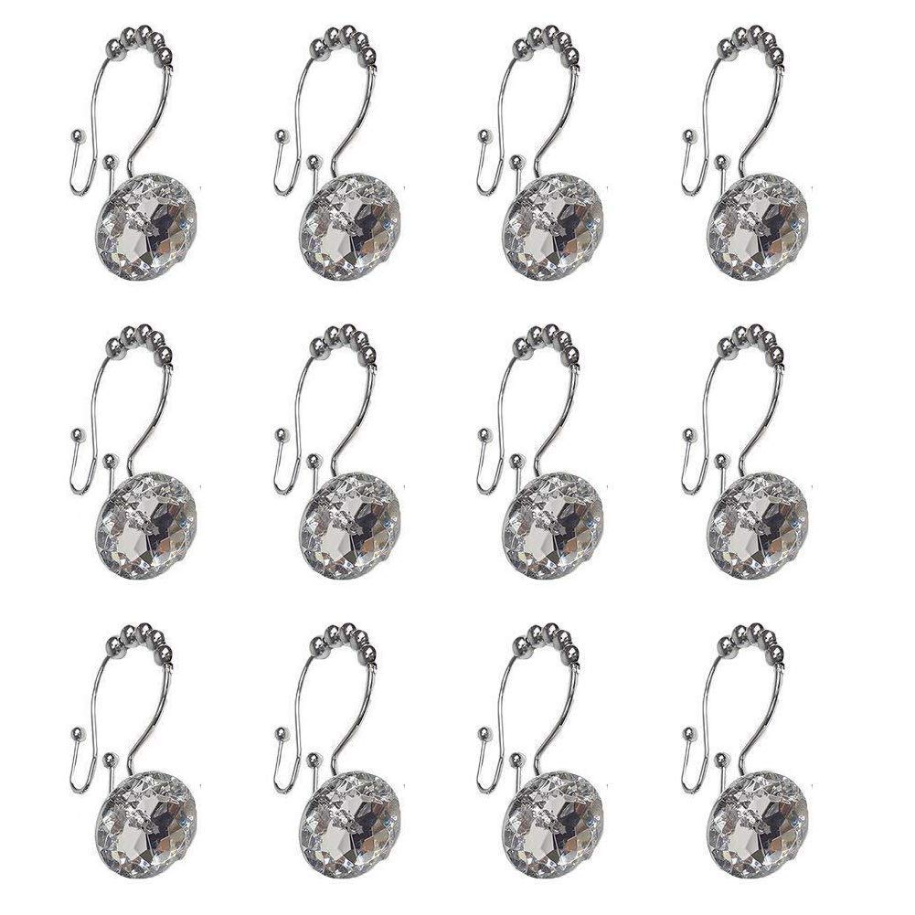 Get Quotations Malicosmile Shower Curtain Hooks Rings Decorative Stainless Steel Double For Bathroom Clear
