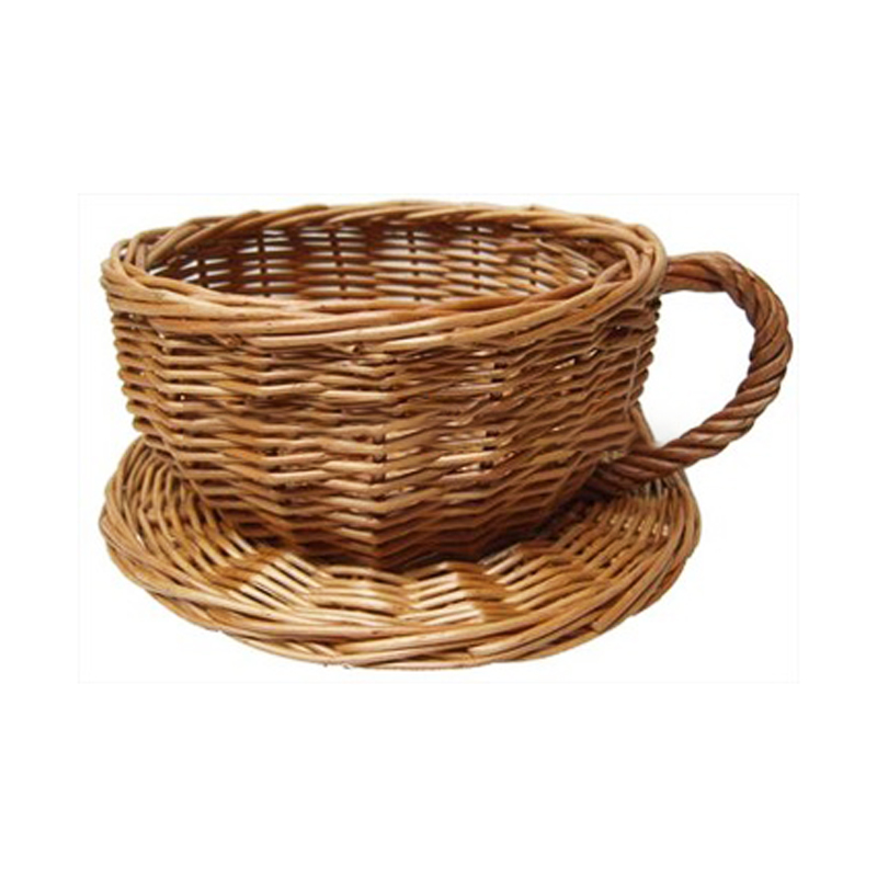 wholesale wicker cup and saucer, wicker picnic basket, wicker hamper