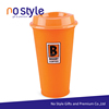 16oz cheap wholesale custom silk printed logo polypropylene reusable coffee cup with lid