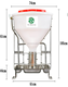 50KG 80KG 100KG Dry Wet Pig Automatic Feeder For Pigs