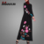 Dubai Fancy Fashion Flower Bouquet Embroidered Abaya Moroccan Jalabiya Long Gown Dress Islamic Clothing