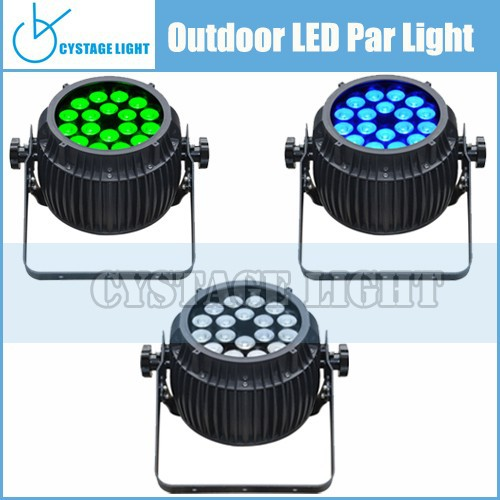 Cheap Led Stage Par Can 18x10w RGBW Stage Dj Effect Par Light IP65 Waterproof Led Par Disco Light
