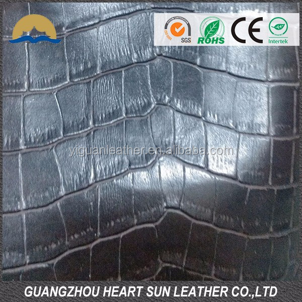 hot sell and high quality crocodile skin leather for women handbags ,wallet