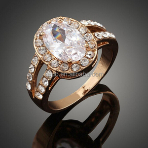 Factory directly sale latest gold ring designs zircon rings 3 colors avaolable free shipping