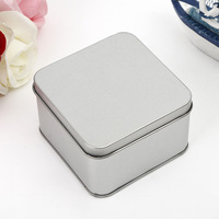 Factory Supply Small Square Tin Box For Tea Tin Can