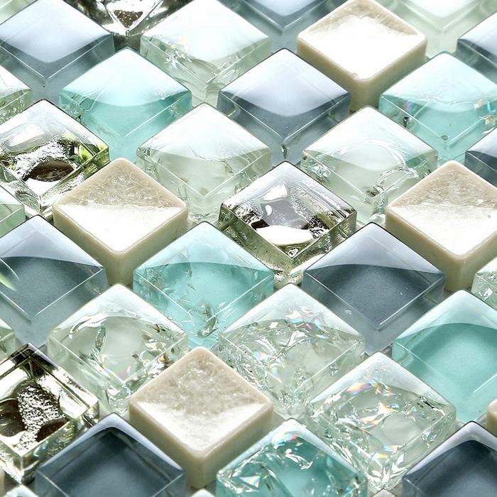 Crackle Tile Kitchen Backsplash