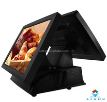 High quality hot sale dual pos mini 15 inch touch screen pos terminal