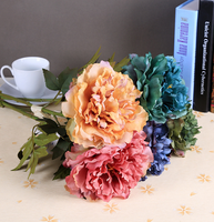 Classical Fall peony flowers silk artificial peony flowers for decoration