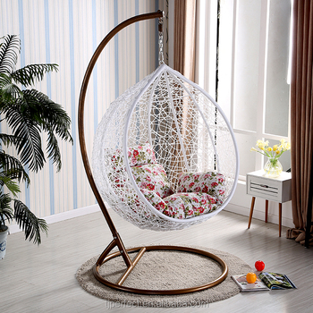 New design handmade wicker outdoor swing garden outdoor for Garden jhoola designs