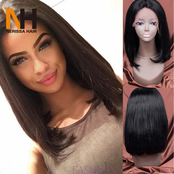 Trendy Long Bob Hairstyle Glueless Lace Front Wig Virgin Chinese