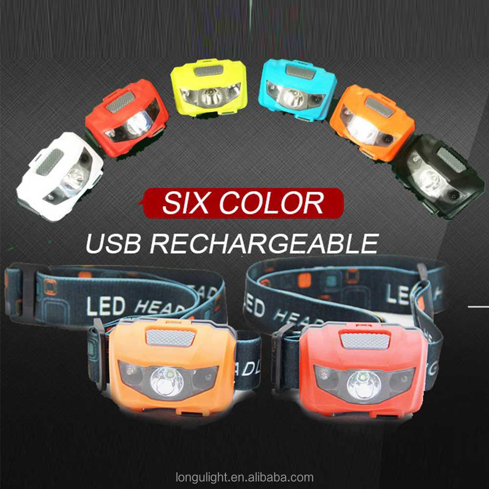 LED Sensor Headlight Headlamp Rechargeable headlamp Flashlight Outdoor Camping
