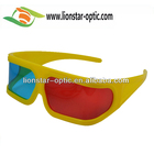 Universal 3D Plastic glasses Red Blue Cyan Movie Game 3D Dimensional Anaglyph 3D Glasses