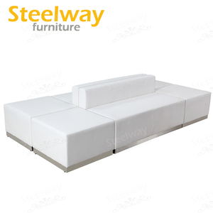 best selling synthetic leather banquette couch for wedding or event