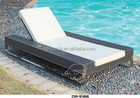 beach lounge/rattan beach lounge/outdoor sun bath lounge bed