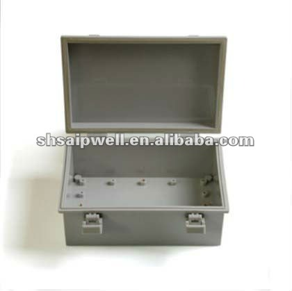 ABS IP65 Hinge and Buckles Waterproof Distribution Box 250*170*130mm