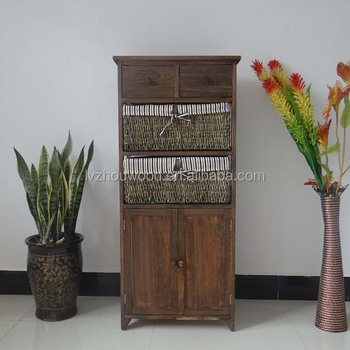 italian living room antique shabby chic wooden cabinet with three drawers