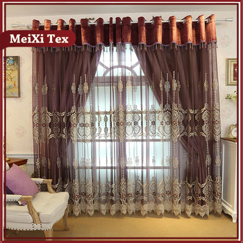 Macrame Embroidery Organza Wholesale Fabric Curtains Ready