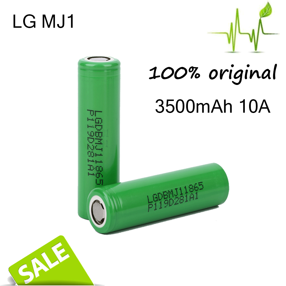 Promotional 3.7v 3500 mah lithium li-ion battery 18650 lg mj1