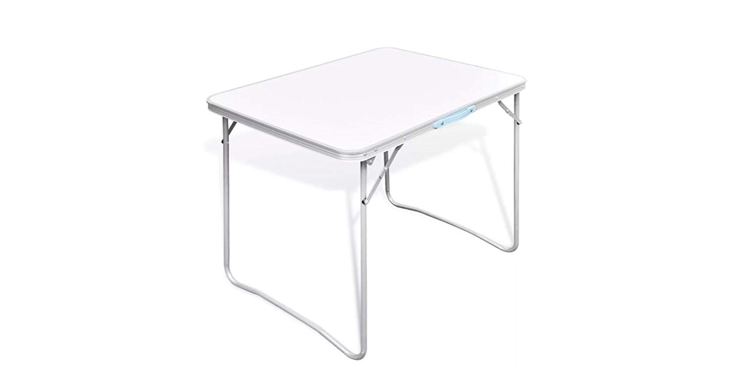 "K&A Company Table Camping Foldable with Metal Frame 31.5""x23.6"""