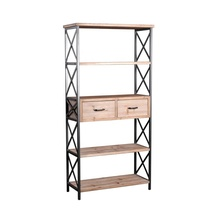 Mayco Antico Stile <span class=keywords><strong>Francese</strong></span> 5-Shelf Alto <span class=keywords><strong>Libreria</strong></span> con Cassetti