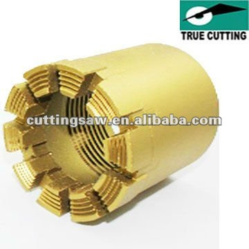 Impregnated diamond drill bit, diamond core drill, drilling tool