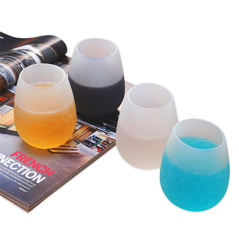 Outdoor Silicone Wine Glasses Unbreakable Silicone Cups For Travel Picnic фото