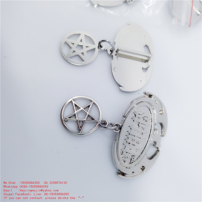 Custom SPIRA trademark Five-pointed star hang toys metal parts factory Plush toys rope hanging ornament