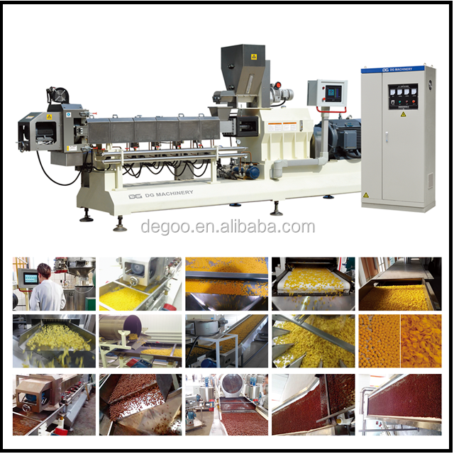 Kellogg frosted corn flakes food twin screw extruder making machine Manufacturing equipment