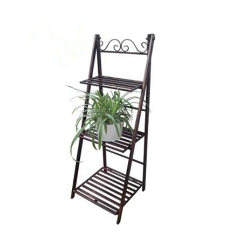 Newest Amazon Hot Sale Stainless Steel Wedding Home Decoration Display 3 Tier Wire Iron Plant Flower Pot Stand