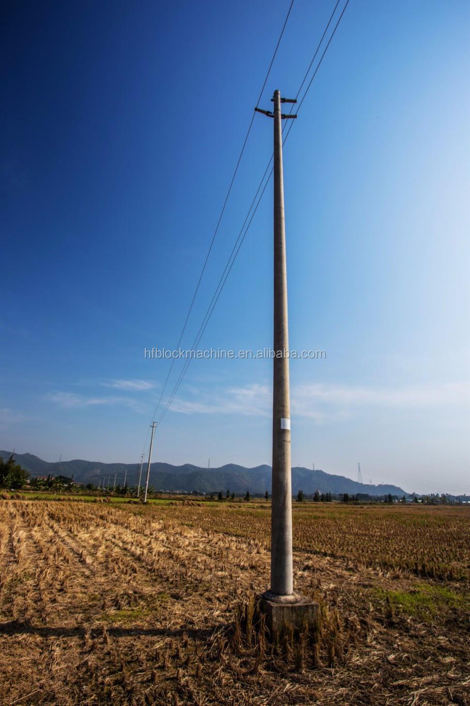 Conduit In Concrete Pole : Production line concrete electrical pole pipe making