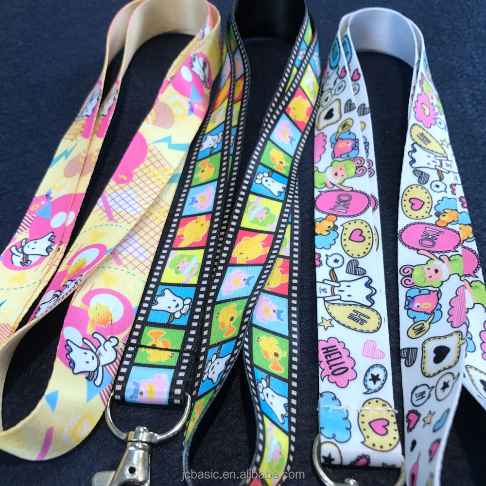custom logo fashion colorful cheap screen printing neck polyeater lanyards