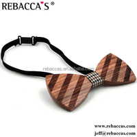 Rebacca's Vintage Hollow Wooden/wood Bow Tie With Leather Center ...