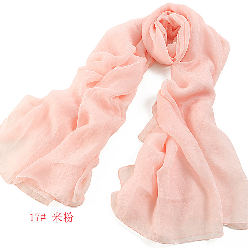 Factory Wholesale Popular Various Colors Chiffon Lady Scarf