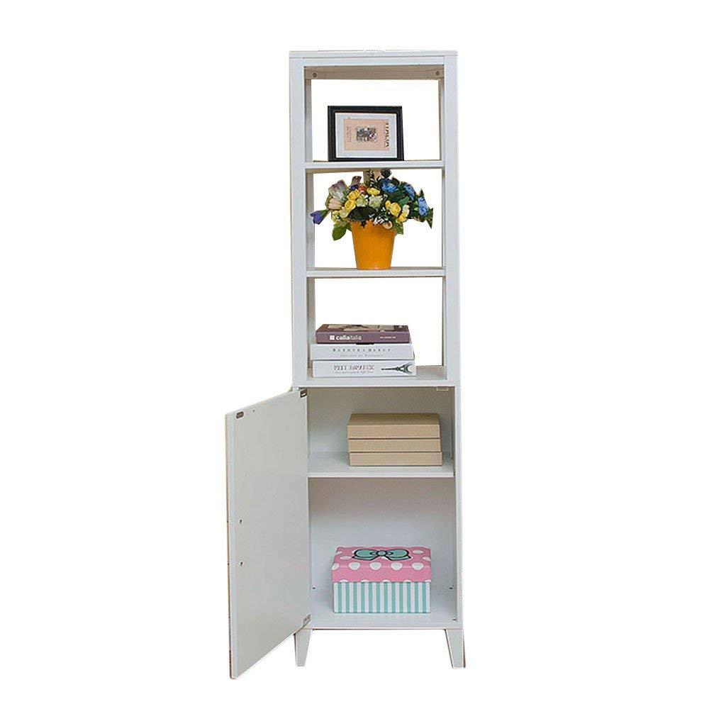 Living room cabinet corner cabinet storage cabinet, bathroom floor cabinet storage cabinet, foyer cabinet storage partition cabinet (Color : White, Size : 4330157cm)