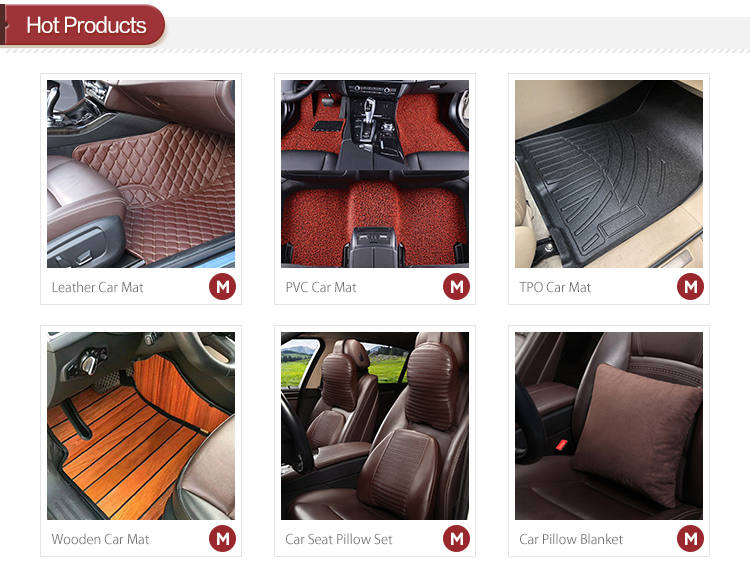 Factory produce waterproof easy install leather car trunk mat