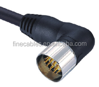M23 right angle female thread connector,waterproof M23 signal connector reversed polarity