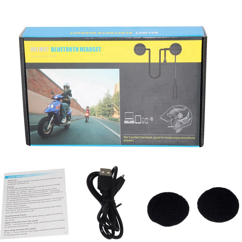 Bluetooth Anti-interference For Motorcycle Helmet Riding Hands Free Headphone